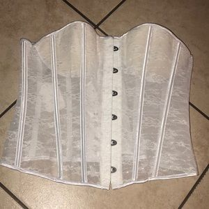 Intimates & Sleepwear - Women's sheer white corset Large